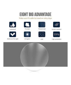 MOOKLIN Car Rearview Mirror Protective Film, HD Anti-Fog/Anti-Glare/Anti-Scratch Car Mirror Rainproof Film For All Automobile And Vehicle Models