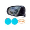 ZWOOS 2PCS Car Rearview Mirror, Protective Film for Car Mirrors (Oval)