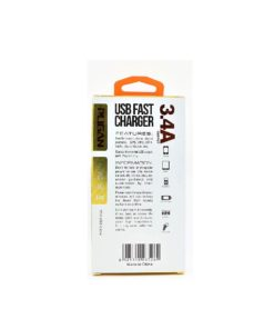 Dual Port Multi Pin Fast Car Charger 3.4 Amp with 3 in 1 USB Cable