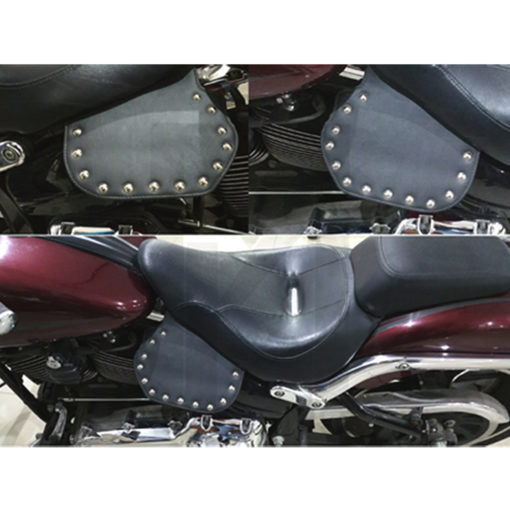 Heat Deflector with Chrome Studs for Harley davidson