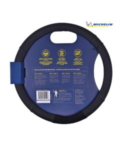 Michelin Premium Faux Leather Steering Cover (Black) 33252